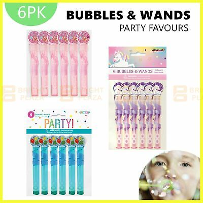 AU5.95 • Buy 6 X Mini Bubbles & Wands Unicorn Pink Blue Birthday Party Favours Loot Treat Bag