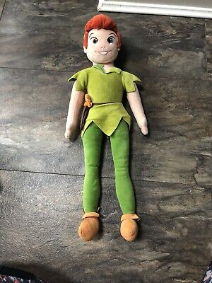 Disney Store Large  21  Peter Pan Plush Soft Doll Toy • 6.50£