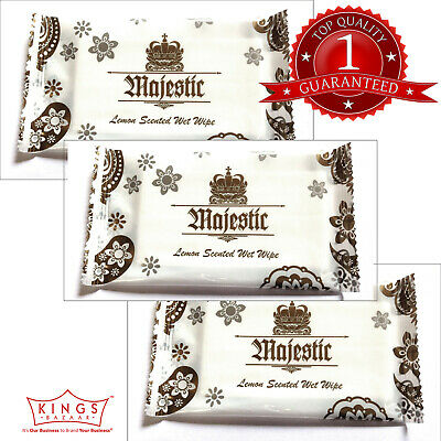 500 X Majestic Lemon Fresh Wet Hand Wipes Towels Hot Cold Individually Wrapped  • 19.99£