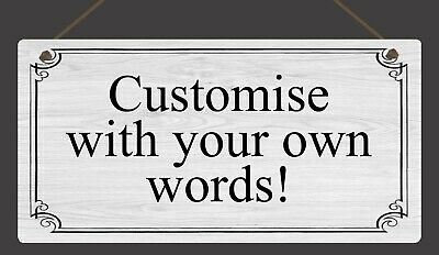 Personalised Metal Sign Hanging Plaque Gifts Custom Any Text Quotes Fun Gift • 4.99£