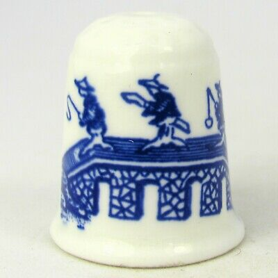 Coalport Collectable Bone China Thimble Willow Pattern • 15.67£