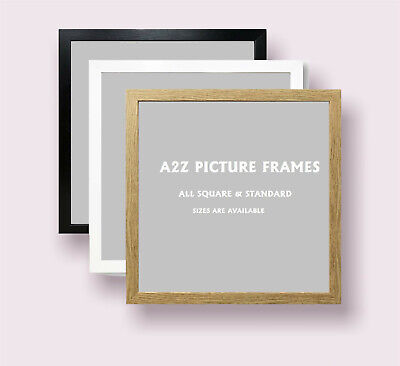 Square Picture Frames Poster Frame Modern Photo Frames Wood Effect- ALL SIZES  • 14.99£