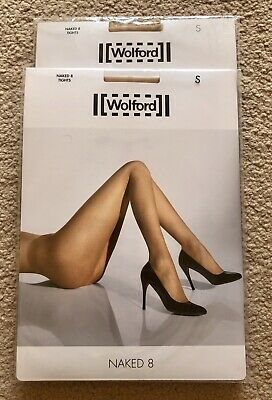 Wolford 2 Pairs Tights Naked8 Gobi - Size S - Brand New • 2.20£