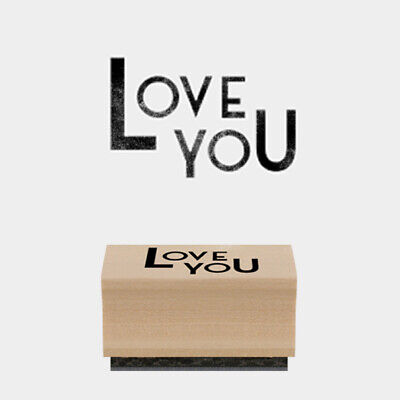 £3.75 • Buy Love You Woodblock Rubber Craft Stamp By East Of India