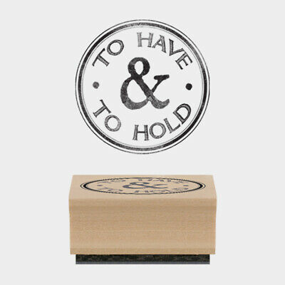 £3.75 • Buy  TO HAVE& TO HOLD Woodblock Rubber Wedding Craft Stamp By East Of India
