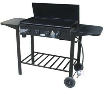 AU315 • Buy Jumbuck 4 Burner Gas Barbecue BBQ Auto Ignition Trolley Barbeque Black Steel