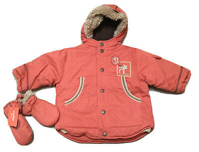 Baby Boys Winter Marese Coat And Mits Age 18 Months • 16.99£