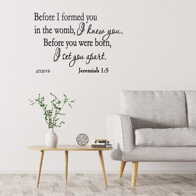 £4.85 • Buy Wall Stickers Christian Quote PVC Wall Art Stickers Religious Decor Mural Art