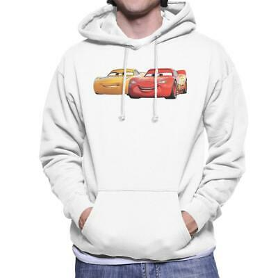 Disney Cars Cruz And Lightning Smile Men's Hooded Sweatshirt • 29.95£