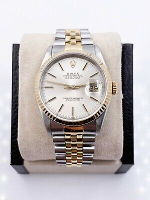 $ CDN6848.05 • Buy Rolex Datejust 16233 Silver Dial 18K Yellow Gold Stainless Steel
