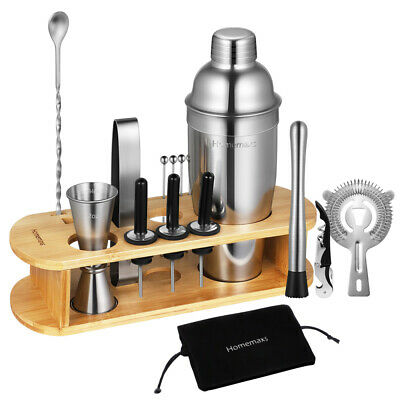 17pcs Cocktail Set Bartini Shaker Making Kit Gift Stainless Mixer Making Bar DIY • 17.79£