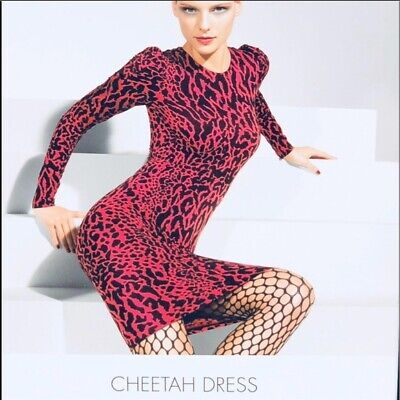 Wolford Leopard Print Long Sleeve Bodycon Dress • 39.99£