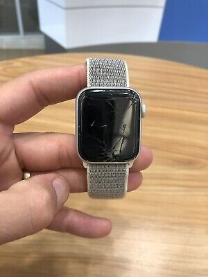 $ CDN147.34 • Buy Silver Apple Watch IWatch Series 4 40mm Aluminum GPS + LTE, Cracked Screen, Used