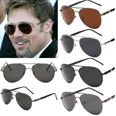 AU15.29 • Buy Glasses Men Aviator Sunglasses Metal Frame Retro Pilot Driving Eyewear Polarised