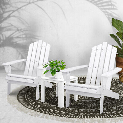 AU224.90 • Buy Gardeon Outdoor Lounge Setting Beach Table Chairs Wooden Indoor Patio 3pc