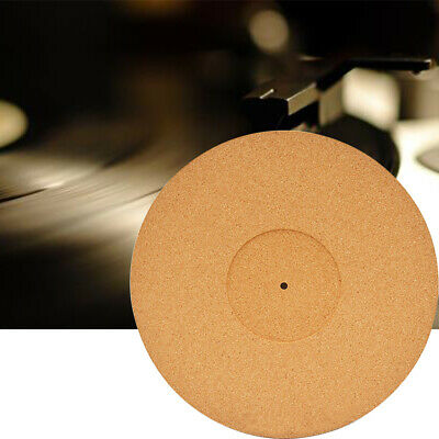Fidelity Non Slip Practical Record Players Reduce Noise Cork Turntable Mat • 15.99£