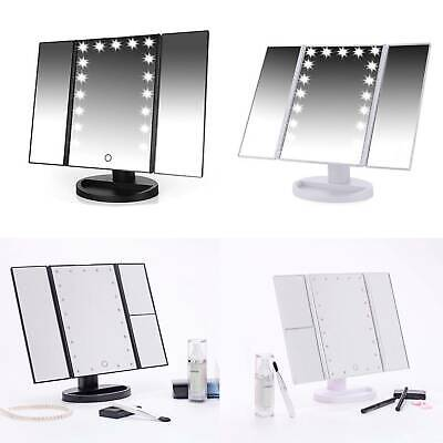 Foldable LED Mirror Illuminated Make Up Mirror Cosmetic Vanity With Light Stand • 9.99£