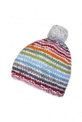 Pachamama Sustainable Fair Trade Hoxton Striped Natural Wool Bobble Hat  • 14.95£