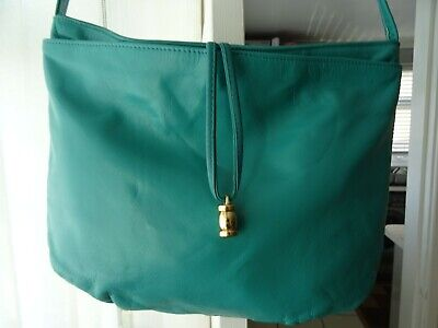 Jane Shilton Green Leather Shoulder Bag • 1.99£
