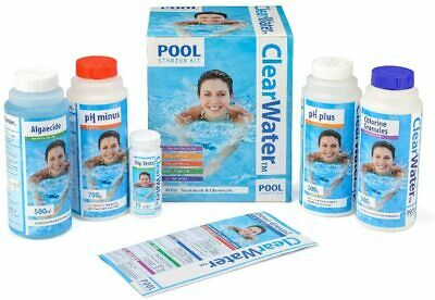 Above Ground Swimming Pool Chemical Chlorine Granules Clearwater Starter Kit UK • 24.99£