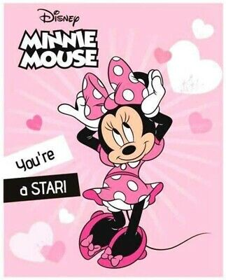 £7.99 • Buy Girls Kids Official MINNIE MOUSE Character Super Soft Fleece Bed Blanket Throw