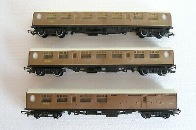 Hornby OO Gauge Set Of LNER Coaches 2 X Composite R745 & 1 X Brake R746 Unboxed • 14£