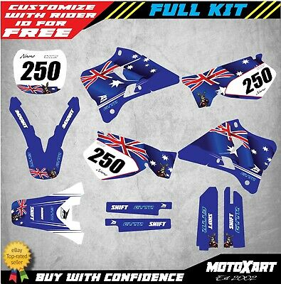 AU179.90 • Buy Custom Graphics, Full Kit For Yamaha YZ 250 1996 - 2001 AUSSIE STYLE Decal Kit