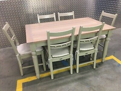 Neptune Suffolk Kitchen Dining Room Table & 6x Chairs + Cushions RRP£2665 • 1,495£