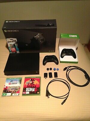 AU355 • Buy Xbox One X + 2 Controllers + 2 Games + Kontrolfreeks + Rechargeable Battery Pack