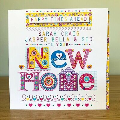 New Home Greeting Card. Personalised Beautiful Moving Home/New House Card • 3.80£