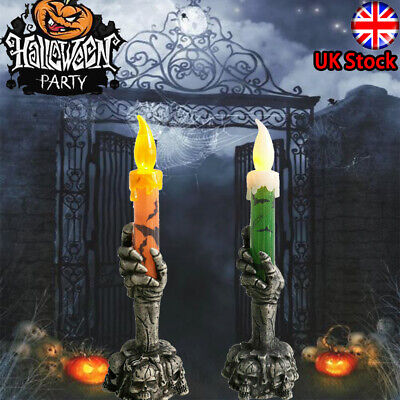Halloween Skeleton Hand Led Lamp Candle Flame Light Stand Lamp Party Decoration • 4.50£