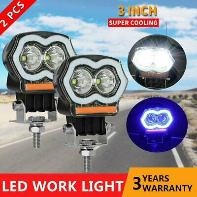 AU30.99 • Buy Pair 3 Inch LED Spot Work Light Bar Pods DRL Fog Driving Offroad ATV Truck 4WD
