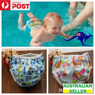 AU6.50 • Buy Swim Nappy Swimmer Boy Adjustable Girl Baby Reusable AU Kids Pant Diaper Toddler