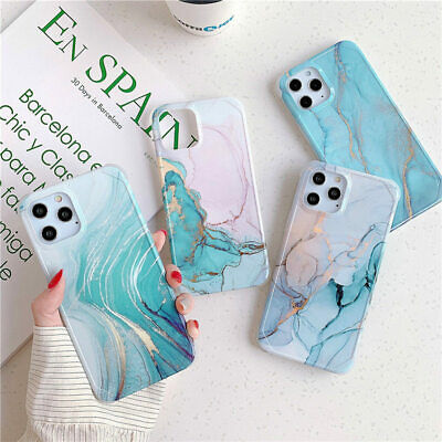 AU13.68 • Buy Marble Shockproof Silicone Phone Case Cover For IPhone 11 Pro Max XS XR 8 7 Plus