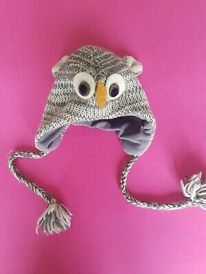 Novelty Owl Knitted Hat With Tassels One Size Fits All  • 4.99£