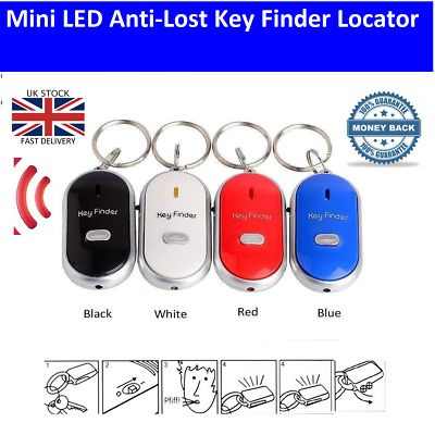 £2.36 • Buy Whistle Lost Key Finder Flashing Beeping Locator Remote Chain LED Sonic Torch UK