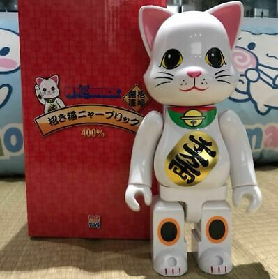 $220 • Buy Authentic Maneki-Neko Beckoning Lucky Cat Ny@ Bearbrick 400% Medicom US Seller