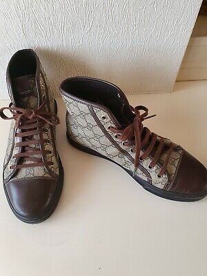 Gucci GG Supreme Leather High Top Boots Size 8 - Unisex • 49.99£