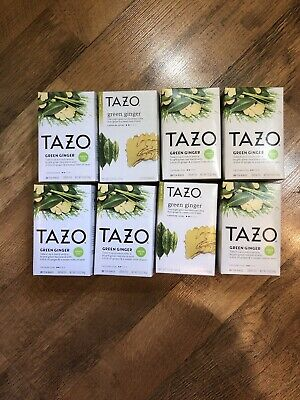 8 - Tazo Green Ginger - Herbal Green Tea W/Ginger & Pear,- 20 Ct Each • 19.67£