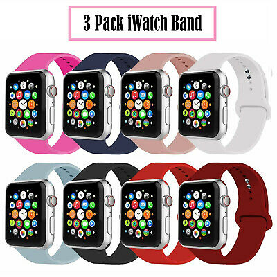 $ CDN13.43 • Buy 38/42/40/44mm Silicone Sports Band IWatch Strap For Apple Watch Series 5 4 3 2 1