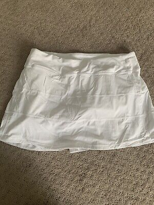 $ CDN46.92 • Buy Lululemon Pace Rival White Skort / Skirt In 10 Tall - EUC