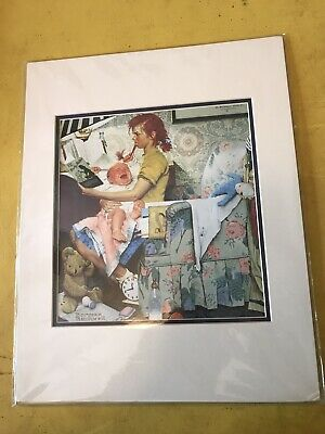 $ CDN9.92 • Buy Norman Rockwell Print,   The Baby Sitter  Double Matted, Rockwell Museum, Mint.