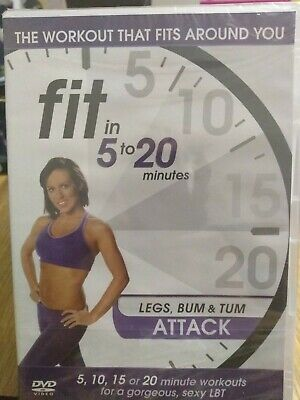 Fit In 5 To 20 Minutes Legs Bum & Tum Attack DVD New And Sealed Free Post • 3.50£