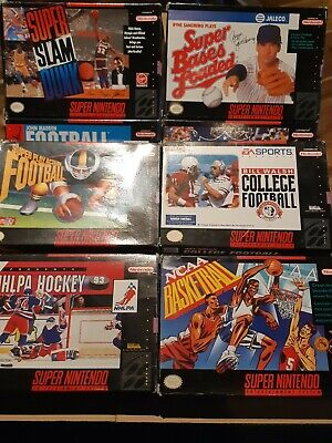 $ CDN69.99 • Buy Lot # 1 Of 10 Boxed - Snes - Super Nintendo - Mixed Sports - See Description