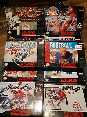 $ CDN69.99 • Buy Lot # 2 Of 10 Boxed - Snes - Super Nintendo - Mixed Sports - See Description