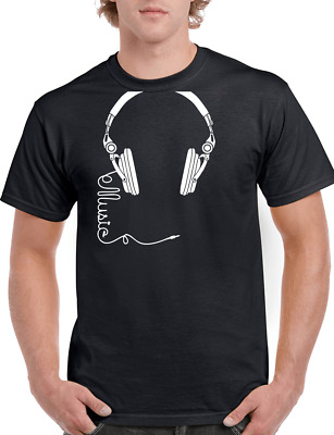 Dj T-shirt  Retro Funky Headphones Man Unisex Gift Birthday Present Music  • 11.95£