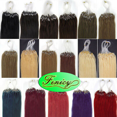 £24.77 • Buy Micro Ring Beads Loop Tip Hair Extensions Remy Brazilian Human Hair Highlights7A