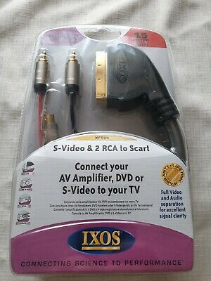 S-Video & 2 RCA To Scart • 3.50£