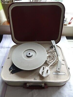 Vintage Suitcase Fidelity HF31 Record Player Working • 40£