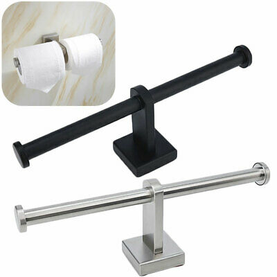 Stainless Double Toilet Roll Holder Stand Chrome Wall Mounted Dual Paper Rack • 8.83£